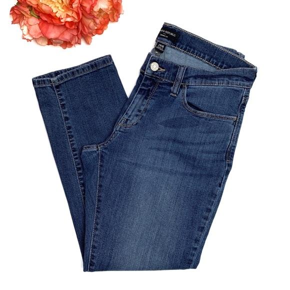Banana Republic Factory Denim - BANANA REPUBLIC Skinny Fit Roll Cropped Jeans 29/8